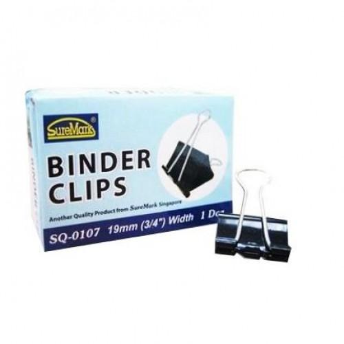 Binder Clips 19mm Box of 12 SQ-0107