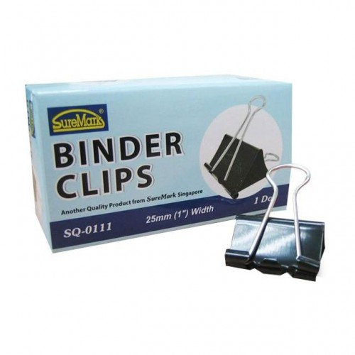 BINDER CLIPS SQ-0111 25MM