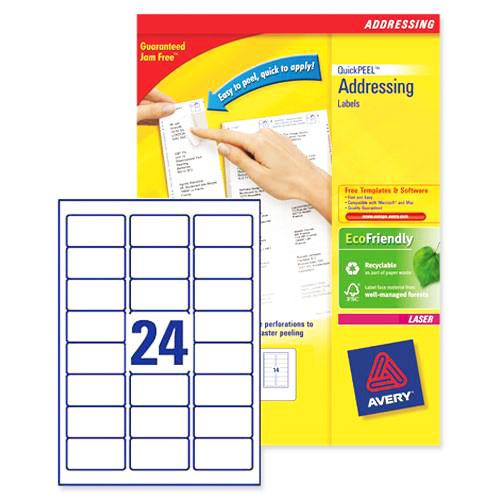 Avery Address White Labels 64 x 34mm L7159 -100