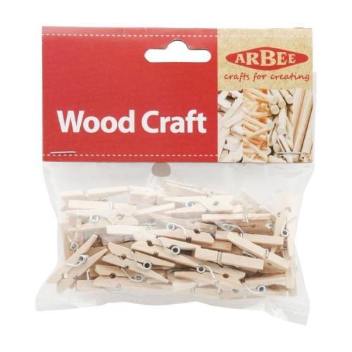 Wood mini pegs - Craft Arbee 40pcs pack (Spotlight)