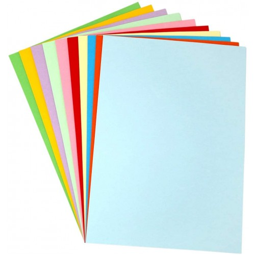 A4 120GSM COLORATION BRIGHT CONSTRUCTION PAPER (600/PKT) - GENII 10 colours