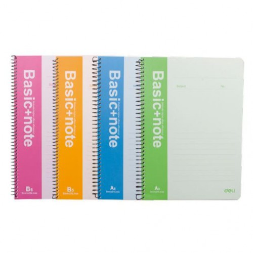 A4 SPIRAL BOUND LINED NOTEBOOK 80 PAGES