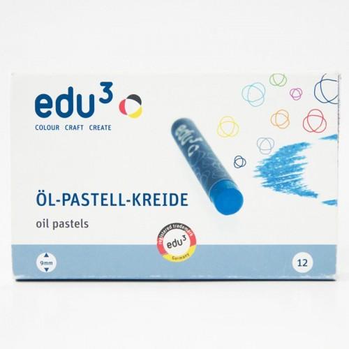 EDU3 OIL PASTEL 12 COLOURS