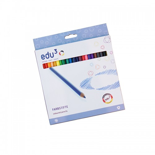 Edu3 Buntstifte 24 Colours colored pencils