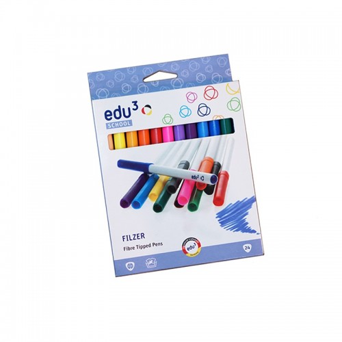 Edu3 Filzer 24 Fibre Tipped Pen