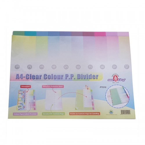 Seaking A4 PP 11 Binder Hole Index - 10PCS