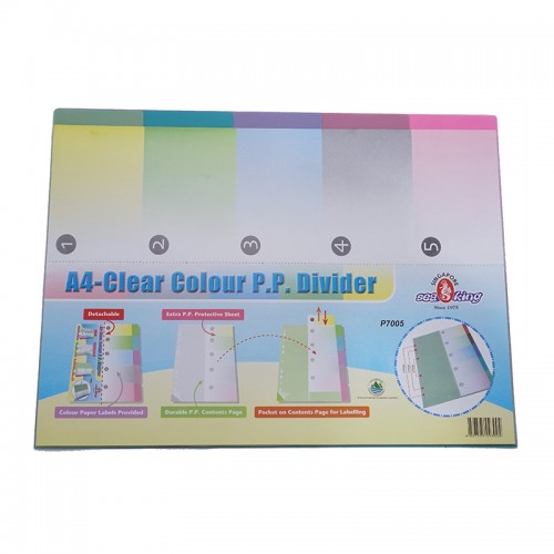 Seaking A4 PP 11 Binder Hole Index - 5PCS